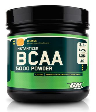 (Optimum Nutrition) BCAA 5000 Powder - (380 гр) - (апельсин)