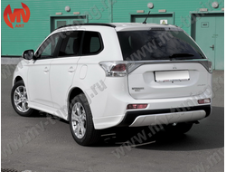 Клыки заднего бампера Mitsubishi Outlander((3rd generation) Broomer Design