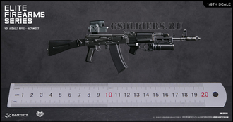 Автомат АК-74М 1/6 AK74M SET VDV ASSAULT RIFLE (EF010) - DAMTOYS (После обзора)