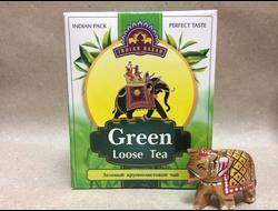 Чай зеленый крупнолистовой (Green) Indian Bazar, 200 гр