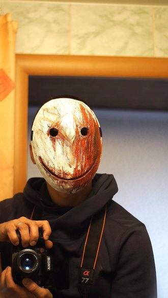 Маска Легиона Smerk Frank из игры Мертвы к рассвету Legion Smile Mask Dead by daylight