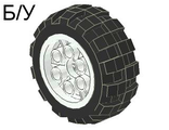 ! Б/У - Wheel 20 x 30 Balloon Medium, with Black Tire 20 x 30 Balloon Medium (6582 / 6581), White (6582c01) - Б/У