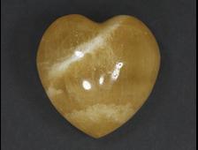 Сердце Кальцит жёлтый, Китай (30*30*19 мм, 24 г) №20621