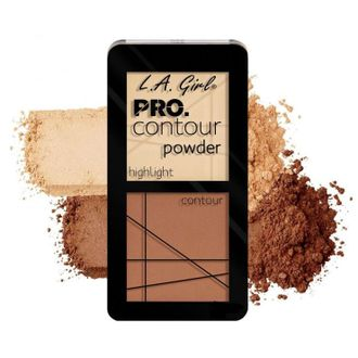 Пудра для контура L.A. Girl PRO.Contour Powder Highlight And Contour Duo 662 Light
