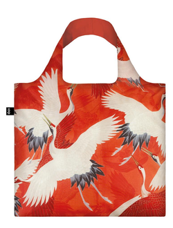 Сумка LOQI MUSEUM COLLECTION - WOMAN`S HAORI White and Red Cranes