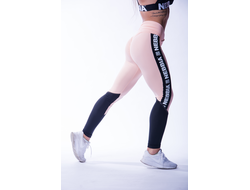 ЛЕГГИНСЫ HIGH WAIST MESH LEGGINGS 601 Лосось