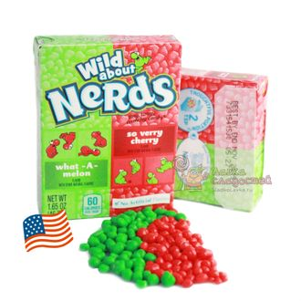 Драже Wonka Nerds Cherry Watermelon, вишня и арбуз, 46.7 гр.