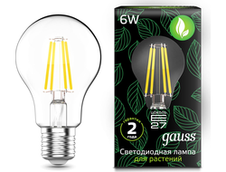 Gauss LED Fito Filament A60 6w E27