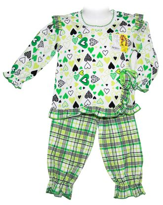 Пижама для девочки (Артикул 332-023) цвет зелёный