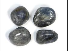 Корунд синий (сапфир) в ассортименте, галтовка, Индия (16-21 мм, 7-9 г) №21312
