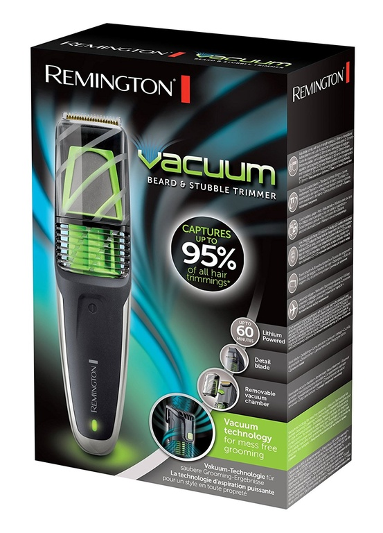 Триммер для бороды REMINGTON VACUUM Beard & Stubble.