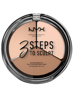 Палитра для скульптурирования NYX 3 Steps To Sculpt 01 Fair (бледная)