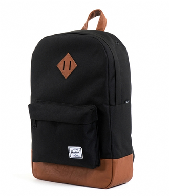 Рюкзак Herschel Heritage Mid Volume Black/Tan Synthetic Leather