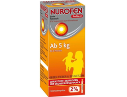 Nurofen Junior (Нурофен джуниор), суспензия 2%, вкус клубники, 100 мл