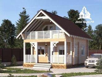 загородный дом из профилированного бруса под ключ