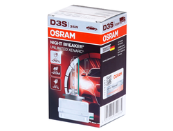 Ксеноновая лампа D3S OSRAM 66340XNB Night Breaker Unlimited Xenarc (+70%), 35W, 1шт