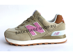 Кроссовки New Balance 574 Pink/Brown