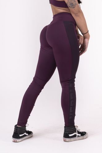 Леггинсы NEBBIA FLASH-MESH LEGGINGS 663 Бургунди