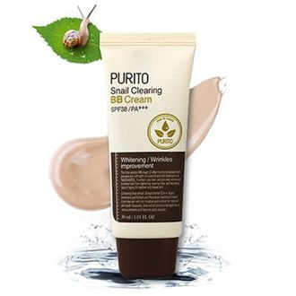 Purito, BB крем с муцином улитки Snail Clearing BB Cream SPF38 PA+++