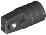 Hinge Cylinder 1 x 2 Locking with 1 Finger and Axle Hole on Ends without Slots, Black (53923 / 6265699)