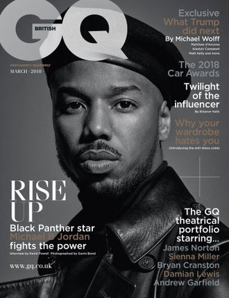 GQ BRITISH Magazine March 2018 Black Panther, Michael B. Jordan Cover Мужские иностранные журналы