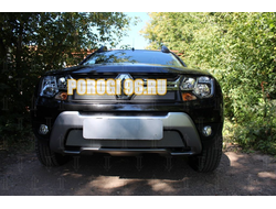Защита радиатора Renault Duster 2015- chrome низ