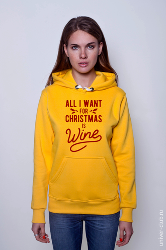 Толстовка All I Want for Christmas is Wine