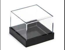 Бокс пластиковый для образцов, черный 28*28*21 №20211