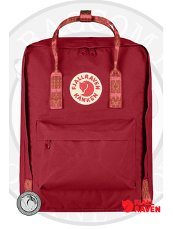 Fjallraven Kanken Deep Red/Folk Pattern