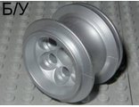 ! Б/У - Wheel 36.8mm D. x 26mm VR with X Axle Hole, Metallic Silver (22253) - Б/У