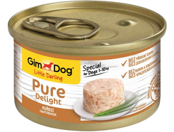 Консервы для собак Gimdog Pure Delight из цыпленка 85 грамм
