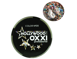 Глитерный гель OXXI Professional Hollywood №8, 5гр