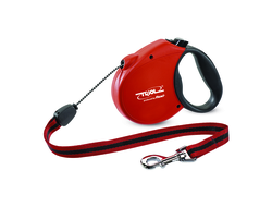 Поводок-рулетка Triol (Триол) Flexi Standard Soft Red M 5м до 20кг, трос