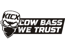 Наклейка Kicx in low bass we trust