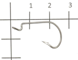 Крючок Invisible Tip Offset Hook №2