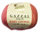 Gazzal baby cotton 3435 чайная роза