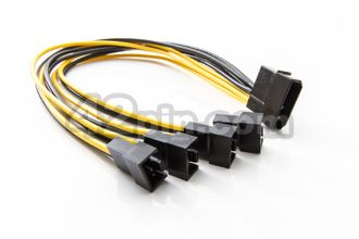 ПЕРЕХОДНИК MOLEX >> 4x4PIN FAN 17AWG VER.2