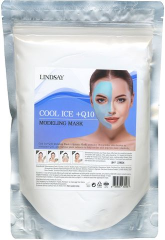 Альгинатная маска c коэнзимом Cool Ice+Q10 Modeling Mask Lindsay (пакет) 240гр
