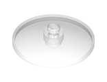 Dish 4 x 4 Inverted Radar with Solid Stud, Trans-Clear (3960 / 4166082)