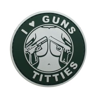Патч I love Guns&Tits (6 см)