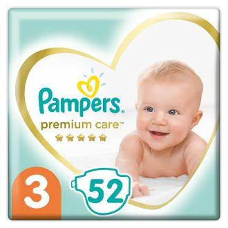 Подгузники Pampers Premium Care 3 6-10кг 52шт