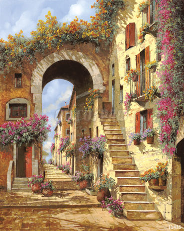 Фрески. Фотообои. 11435 Guido Borelli — Le scale dell'arco. Р