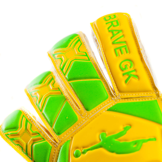 ПЕРЧАТКИ BRAVE REFLEX HYBRID GREEN\YELLOW (детские)