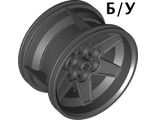 ! Б/У - Wheel 56mm D. x 34mm Technic Racing Medium, 6 Pin Holes, Black (15038 / 6061050 / 6253256 / 6284703) - Б/У
