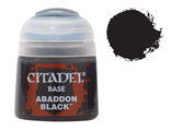 Citadel: Краска Base: Abbaddon Black