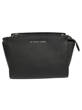 Сумка Michael Kors Selma Medium Messenger Saffiano (чёрная)