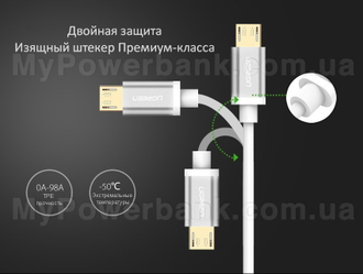 UGREEN USB/micro-USB Gold (1 м)