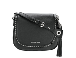 Сумка Michael Kors Brooklyn saddle bad (черная)