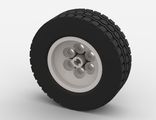 Wheel 62.4 x 20, with Black Tire 62.4 x 20 (32020 / 32019), White (32020c01)