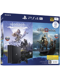 Sony PS4 Pro 1TB + Horizon Zero Dawn + God Of War (CUH-7208B)